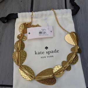NWT Kate Spade Metal Petal necklace